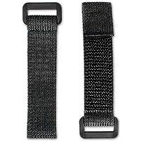 5x FrogJim SKS1005 Stretch klittenband 10cm zwart met gesp, elastisch, flexibel rekbaar klittenband, 20mm breed (10cm…