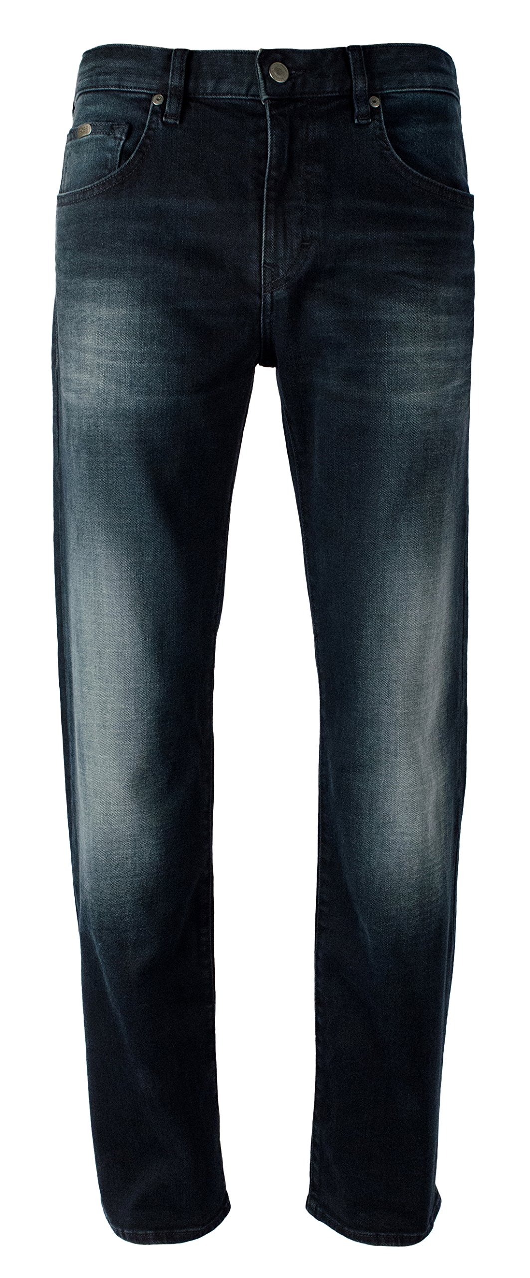 Hugo Boss Men's Kansas Relaxed Fit Green Label Stretch Jeans-B-30Wx32L