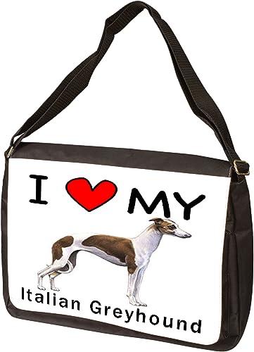 I Love My Italian Greyhound Laptop Bag - Shoulder Bag - Messenger Bag