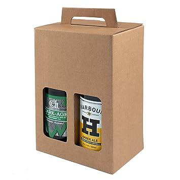 Pack de 10 – 4 cajas de regalo para botellas de cerveza de 500 ml (