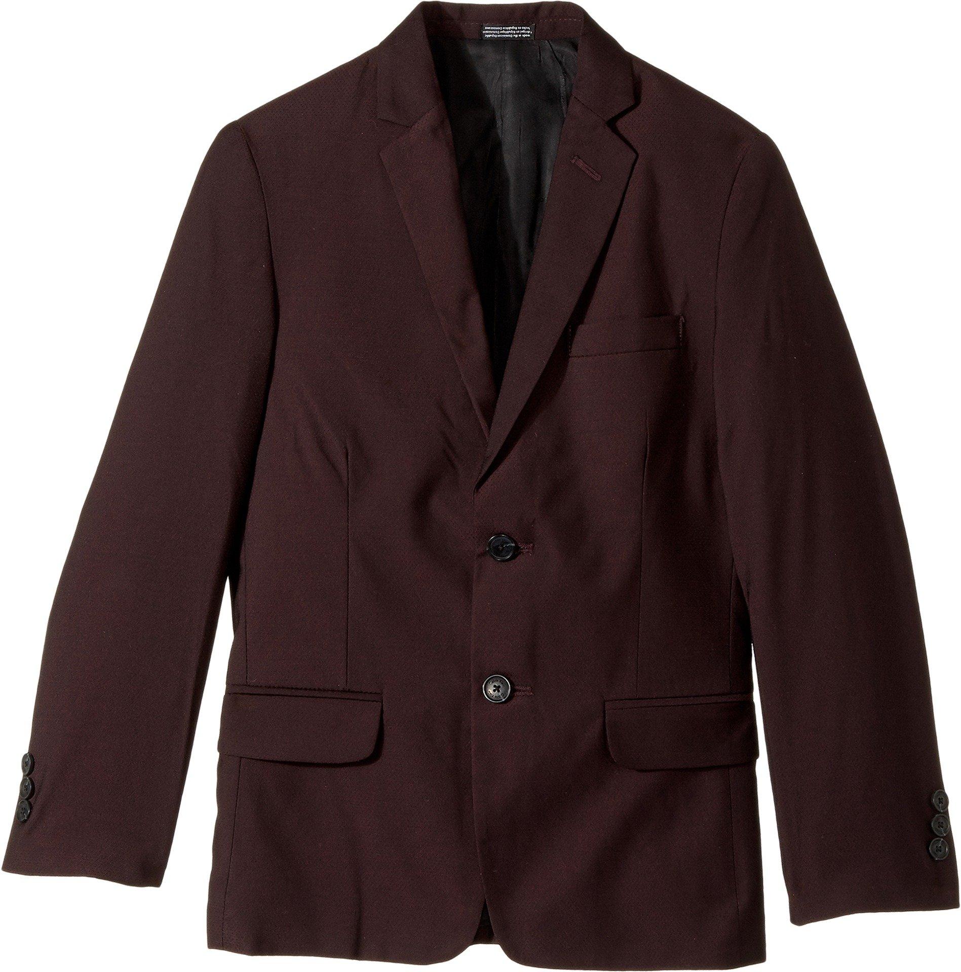 Calvin Klein Big Boys' Blazer Jacket, Square Burgundy, 16