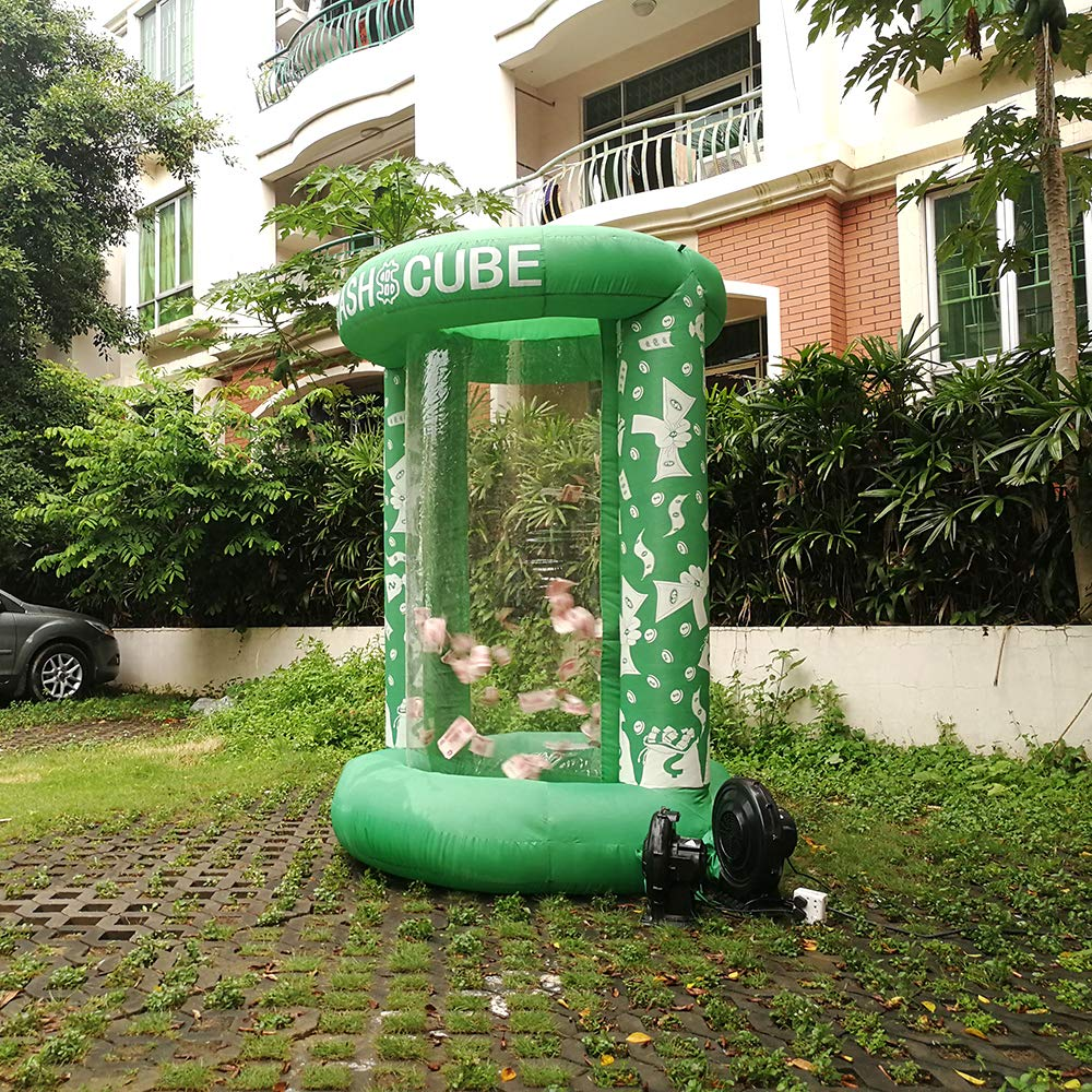 Inflatable Cash Cube Booth for Advertisment, Inflatable Money Grab Machine for Event (No Blower Included) (Green) by Inflatable brother (Image #4)