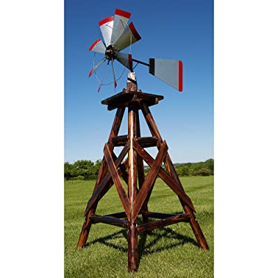 Leigh Country 6Ft. Char-Log Windmill : Garden & Outdoor