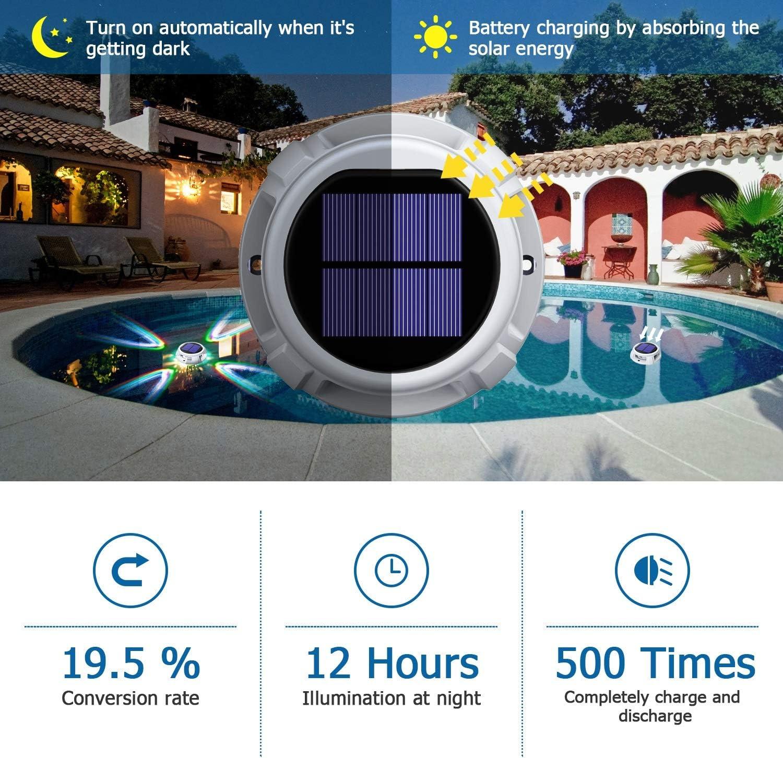 para tienda de campa/ña iluminaci/ón de emergencia 16 colores Chesbung iluminaci/ón para exteriores regulable L/ámpara LED para exteriores luz de sol