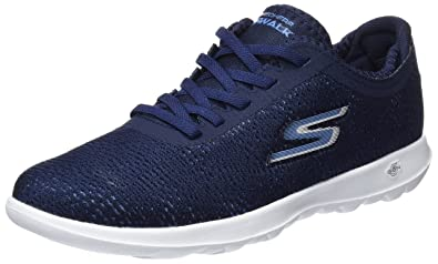 Go Walk 4, Formateurs Femme, Bleu (Navy/Grey), 39 EUSkechers