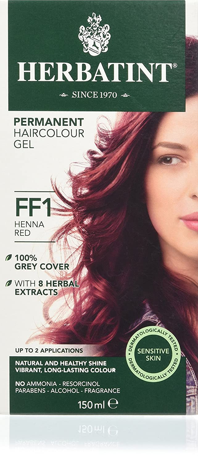 Herbatint FF1 Flash Fashion Henna Red Permanent Herbal Hair Colour Gel 130ml ANTICA ERBORISTERIA SpA 60196