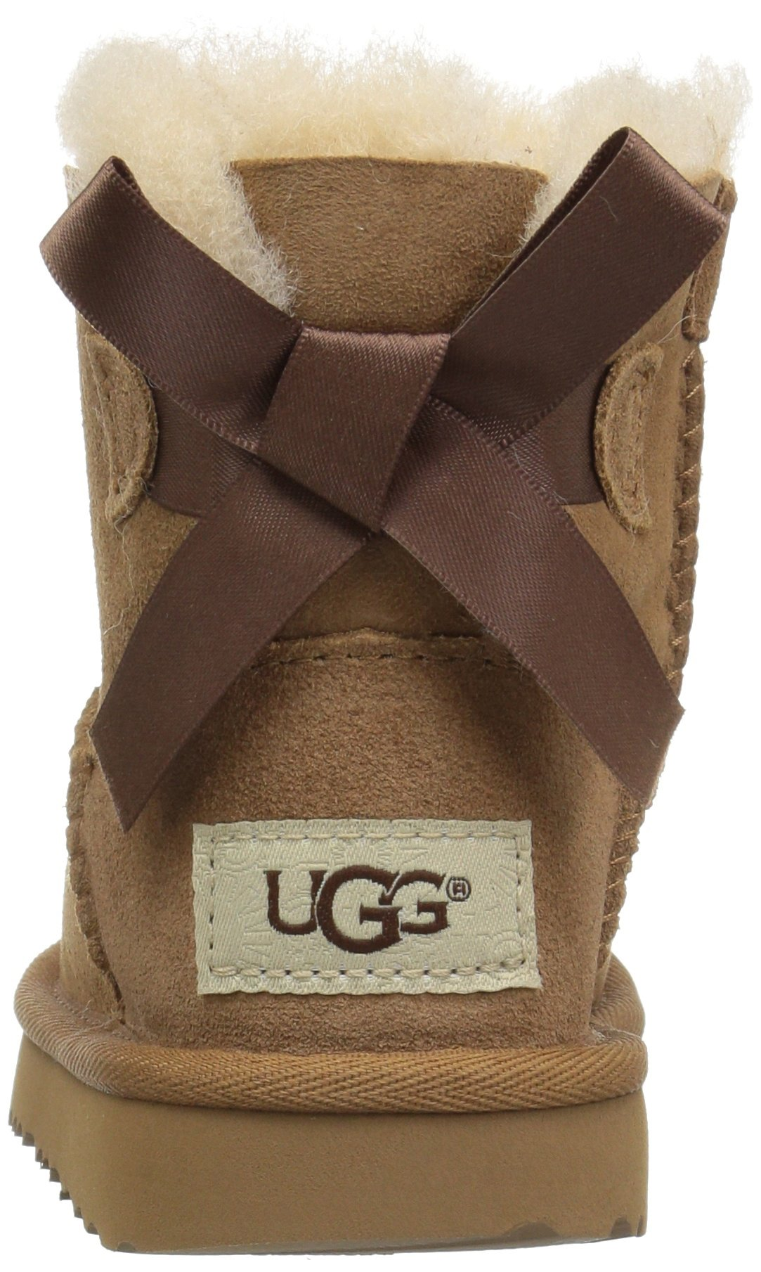 UGG Girls T Mini Bailey Bow II Pull-on Boot, Chestnut, 12 M US Little Kid by UGG (Image #2)