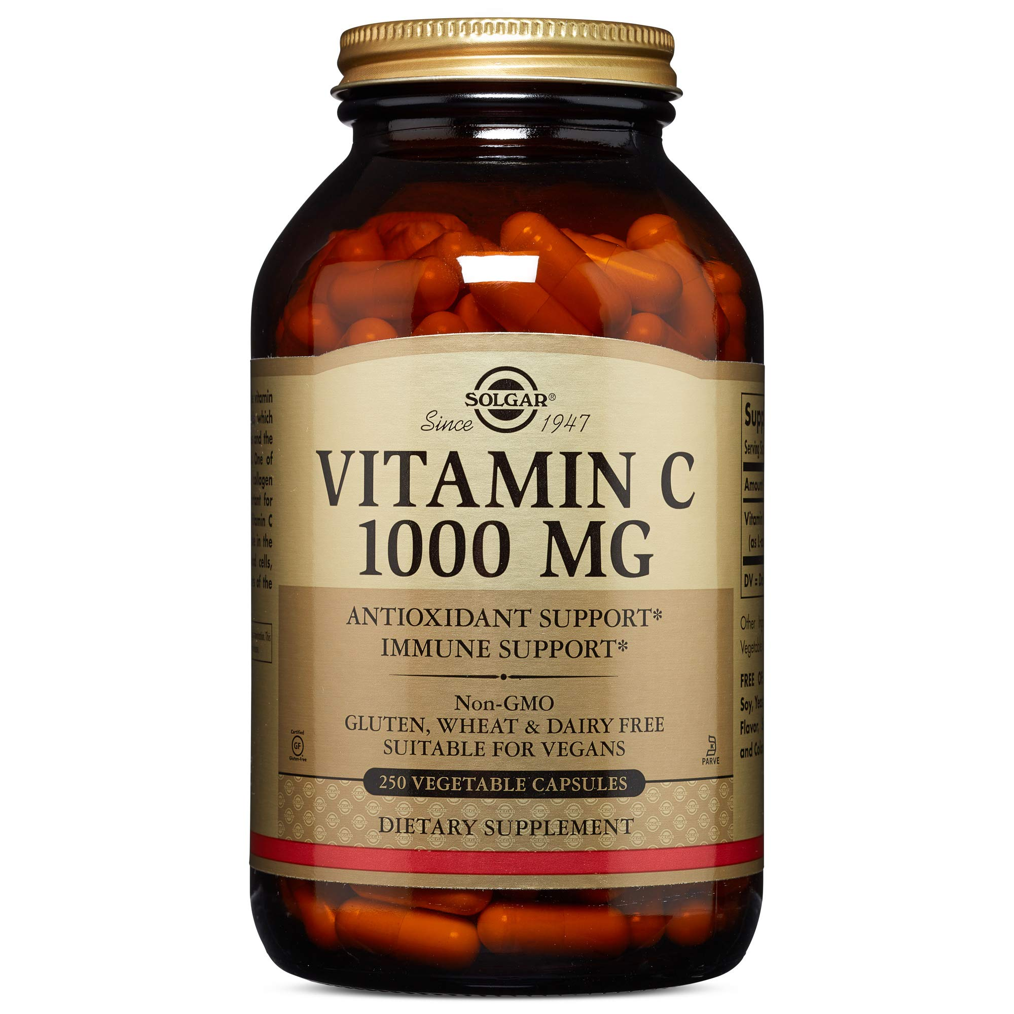 Solgar Vitamin C 1000 mg, 250 Vegetable Capsules by Solgar