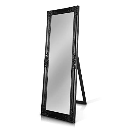 Pleasant Rococo By Casa Chic Shabby Chic Wall Mirror 130X45 Cm Solid Wood Large French Vintage Style Full Length Standing Mirror Antique Black Download Free Architecture Designs Scobabritishbridgeorg