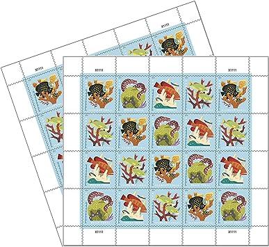 Coral Reefs Postal 2 hojas de 20 sellos postales de primera clase para siempre 40 sellos: Amazon.es: Juguetes y juegos