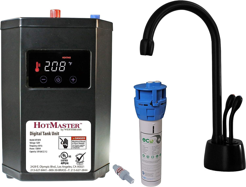 Westbrass DT1F272-62 Develosah Hot Water Dispenser, Matte Black