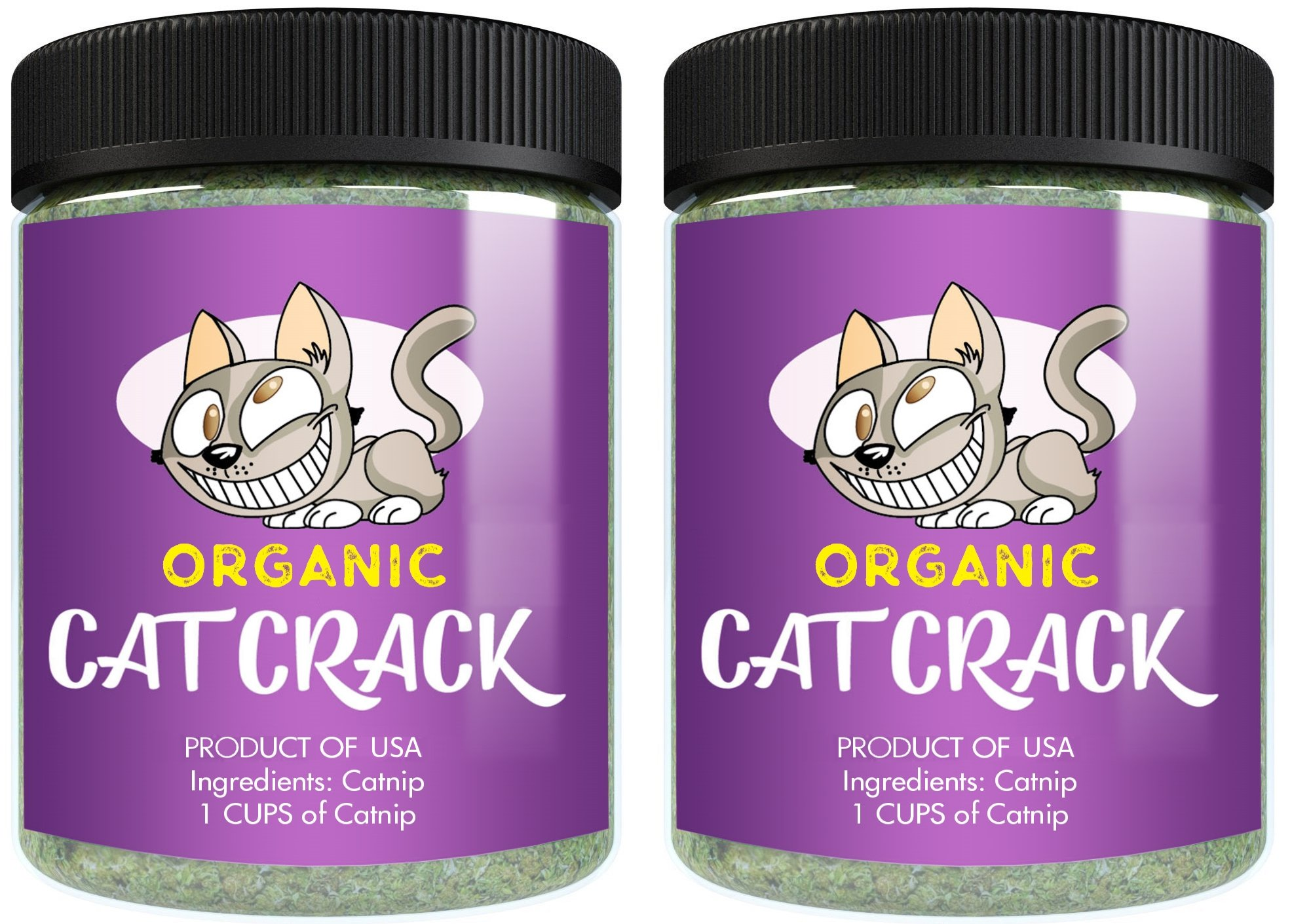 Cat Organic Catnip by Crack, Premium Blend Safe for, Infused with Maximum Potency your Kitty is Guaranteed to Go Crazy for! (2 Cups)