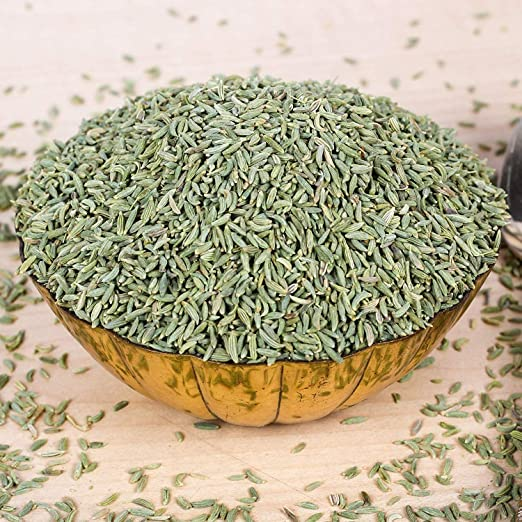 Jai Jinendra Spices & Masale Fennel Seeds - 200 Grams | Saunf Whole | Sauf Green | Sauf Sabut | (Premium Quality)