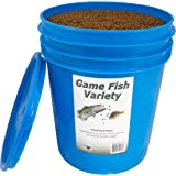 Natural Waterscapes Game Fish Food Variety   Pond and Lake Fish Food Pellets   22 lb Pail   Feed to Bass, Bluegill, Trout   F