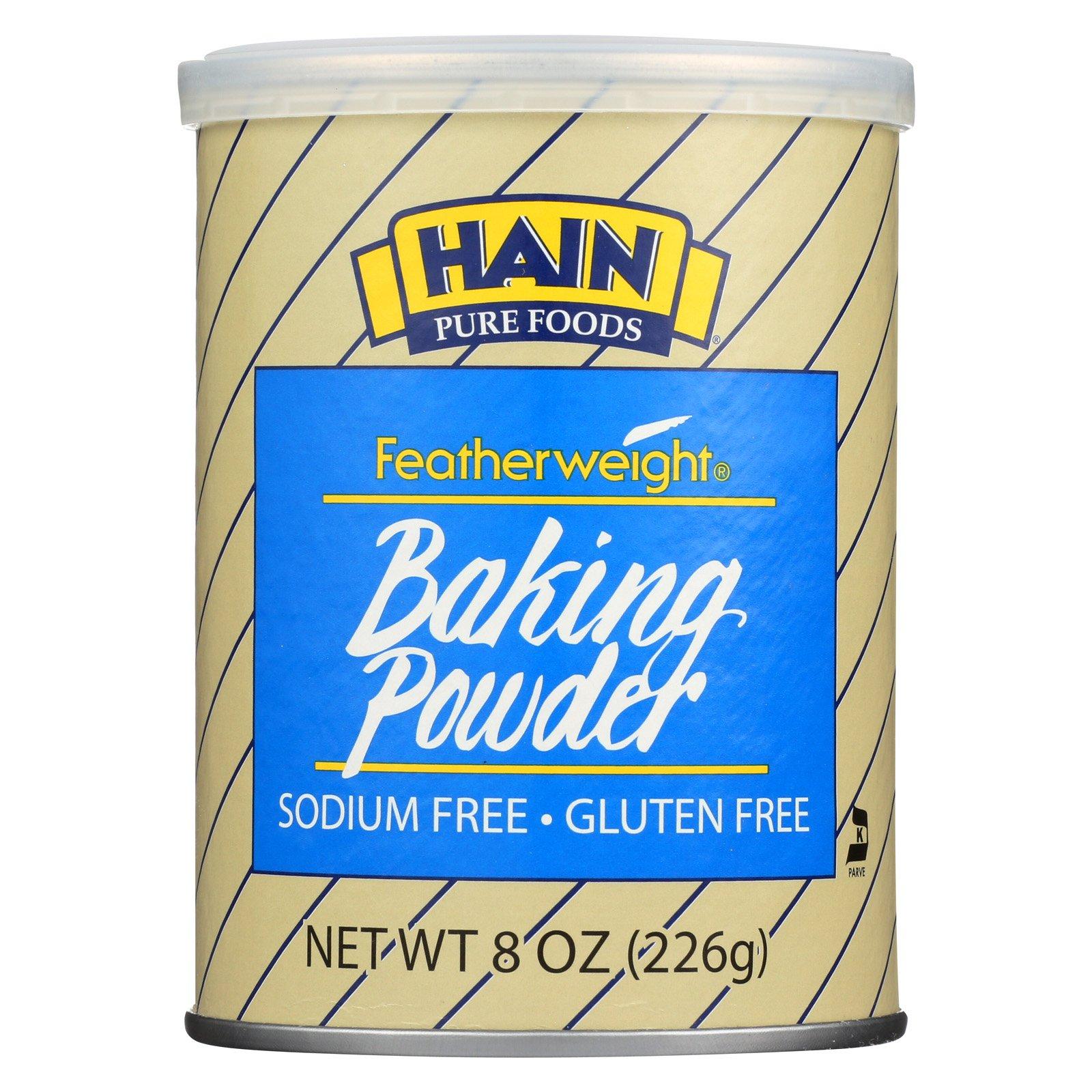 Hain Baking Powder - Featherweight - Case of 12 - 8 oz.