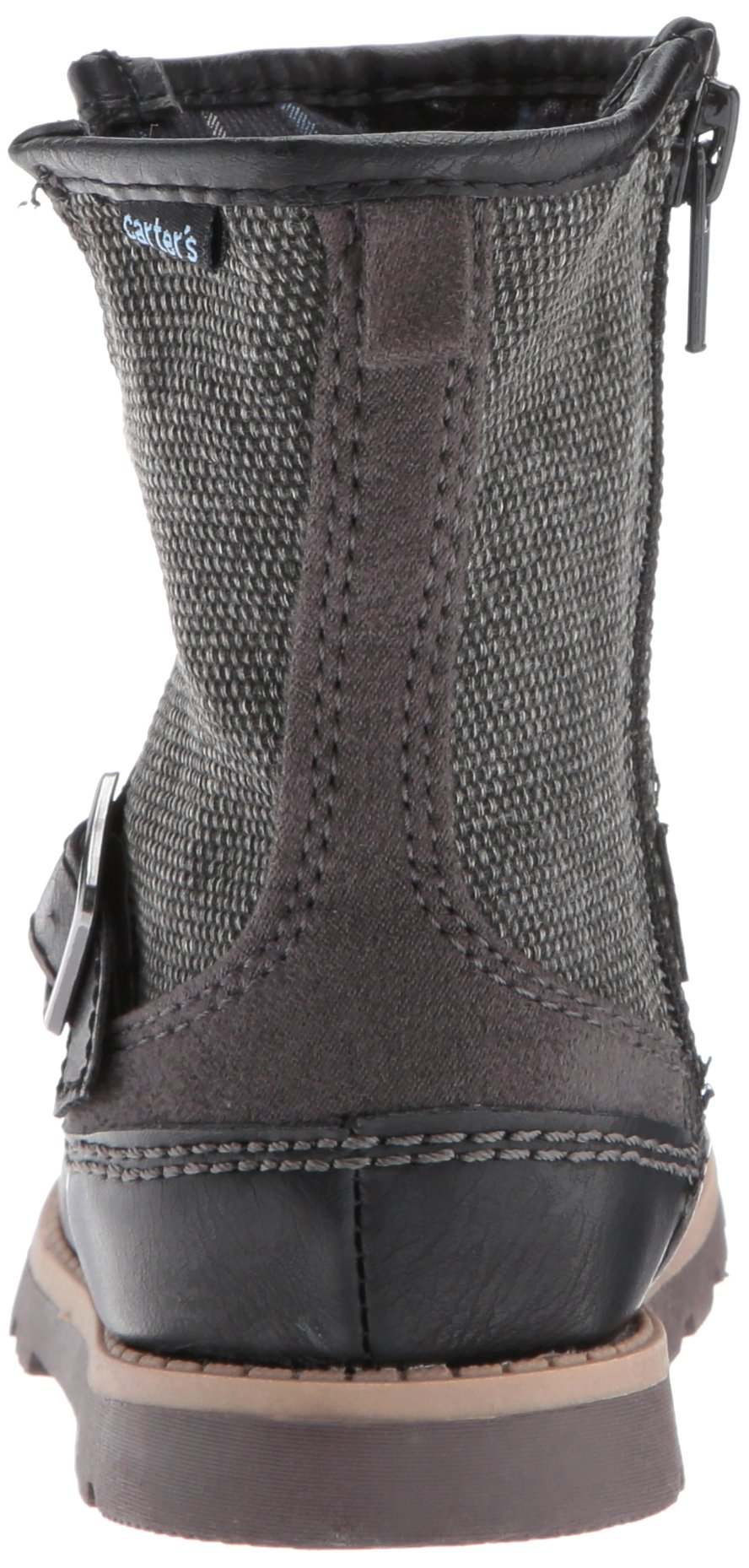 Carter's Boys' Galaway Fashion Boot, Black/Grey, 11 M US Little Kid by Carter's (Image #2)