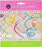 amscan 67055-90-55 Swirl Deco Plastica 56 Cm