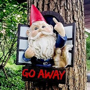 Garden Statues,Resin Outdoor Dwarf Statues Funny Tree Hugger,Garden Sculptures Outdoor Decor,Gardening Gifts Figurines for Patio Lawn Garden Yard Decor
