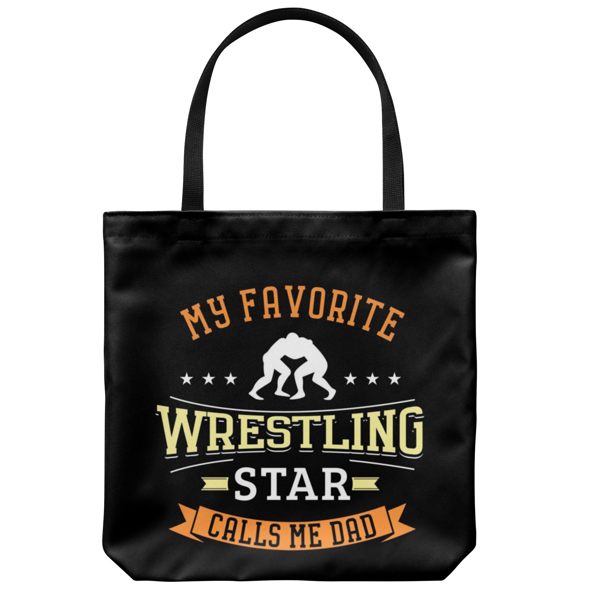 Wrestling Dad Canvas Tote Bag Funny Father's Day Wrestler Gifts Lover