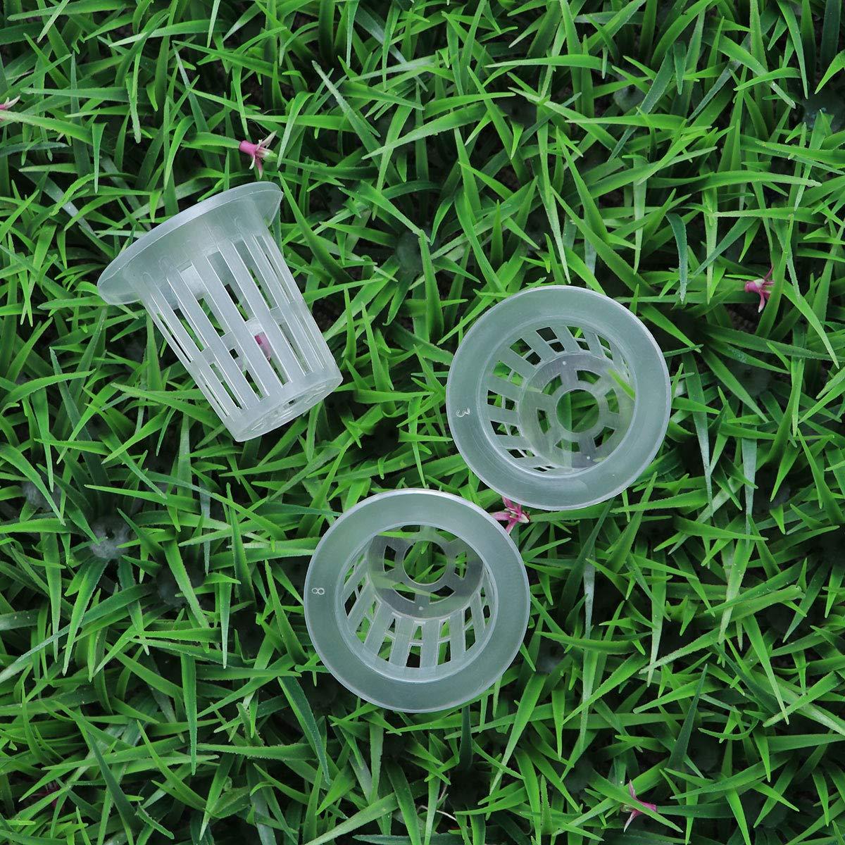OUNONA 50pcs reti a rete scanalate vasi senza coltura cesti di verdure tazze per coltura idroponica//acquaponica//orchidee