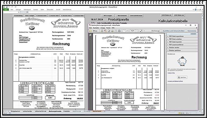 Rechnungsprogramm Rechnungssoftware Für Getränkehandel Trinkhalle