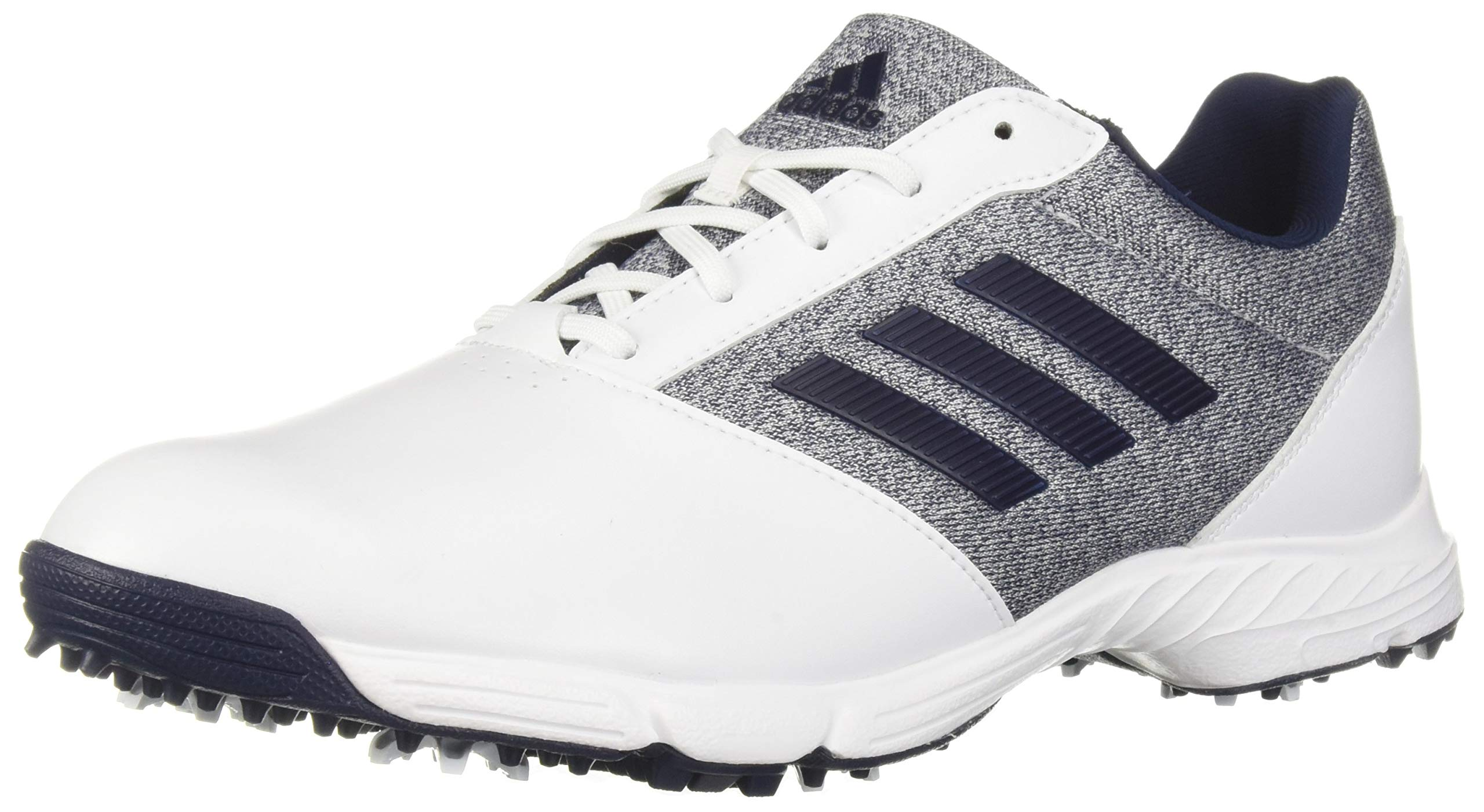 adidas Womens TECH Response Golf Shoe, White/Silver Metallic/Indigo, 9.5 M US by adidas