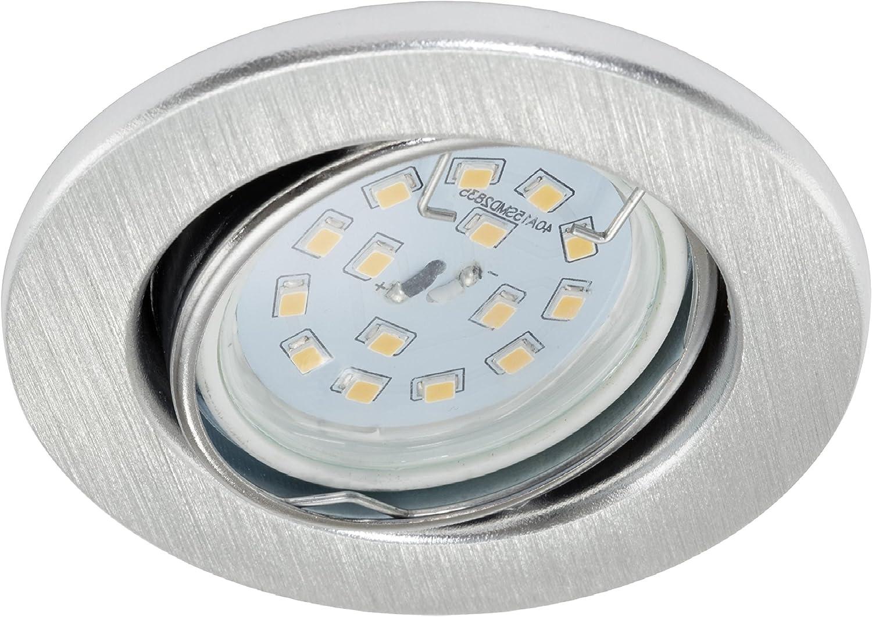 foco incluido 6x 5.0 vatios M/ódulo LED Ultra plano solo 3 cm de profundidad Trango 6 conjunto Foco empotrable LED TG6729-069MO luces empotradas en aluminio plaf/ón empotrado focos de techo
