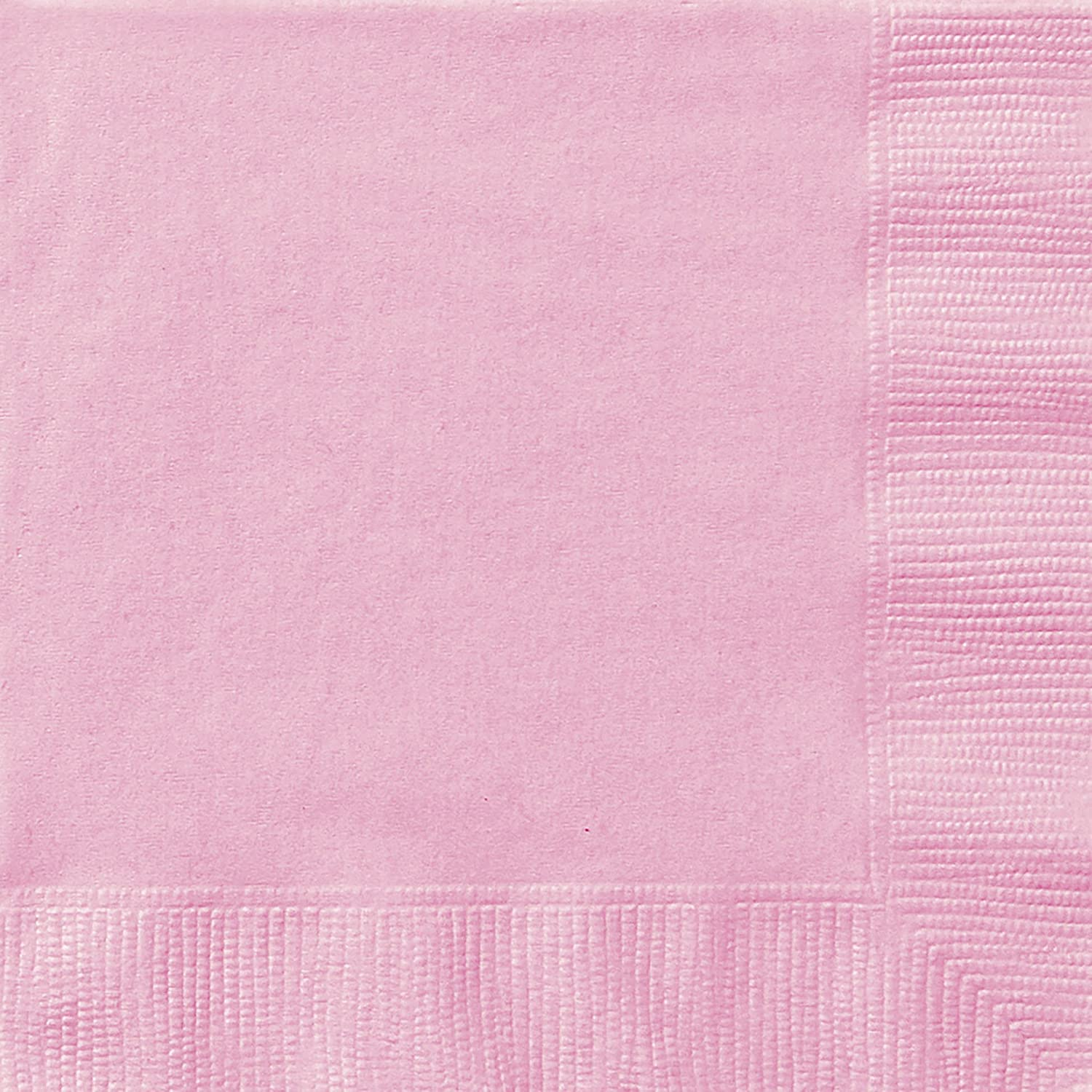 Unique Party 30875 - 6.5 Baby Pink Paper Napkins, Pack of 50