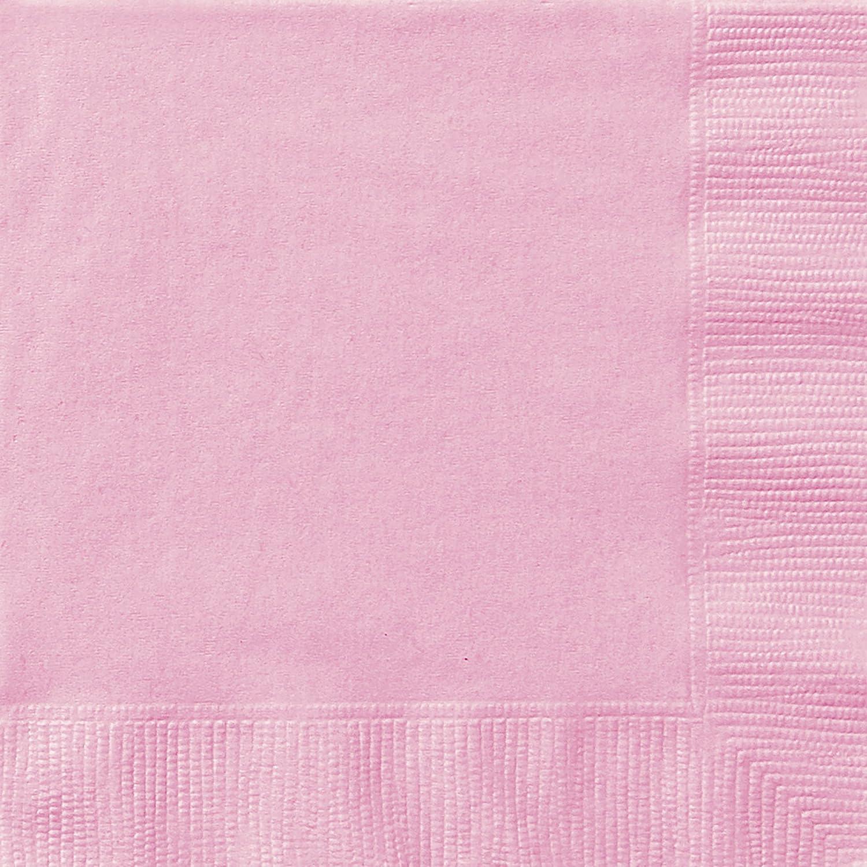 Unique Party 30875 - Tovaglioli di Carta, Confezione da 50, 16,5 cm, Rosa Confetto