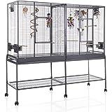 Montana Cages ® | Zimmervoliere, Käfig, Vogelkäfig New Madeira Double mit waagerechter Verdrahtung FRACHTFREI
