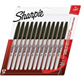 SHARPIE Permanent Markers, Fine Point, Black (new version)…