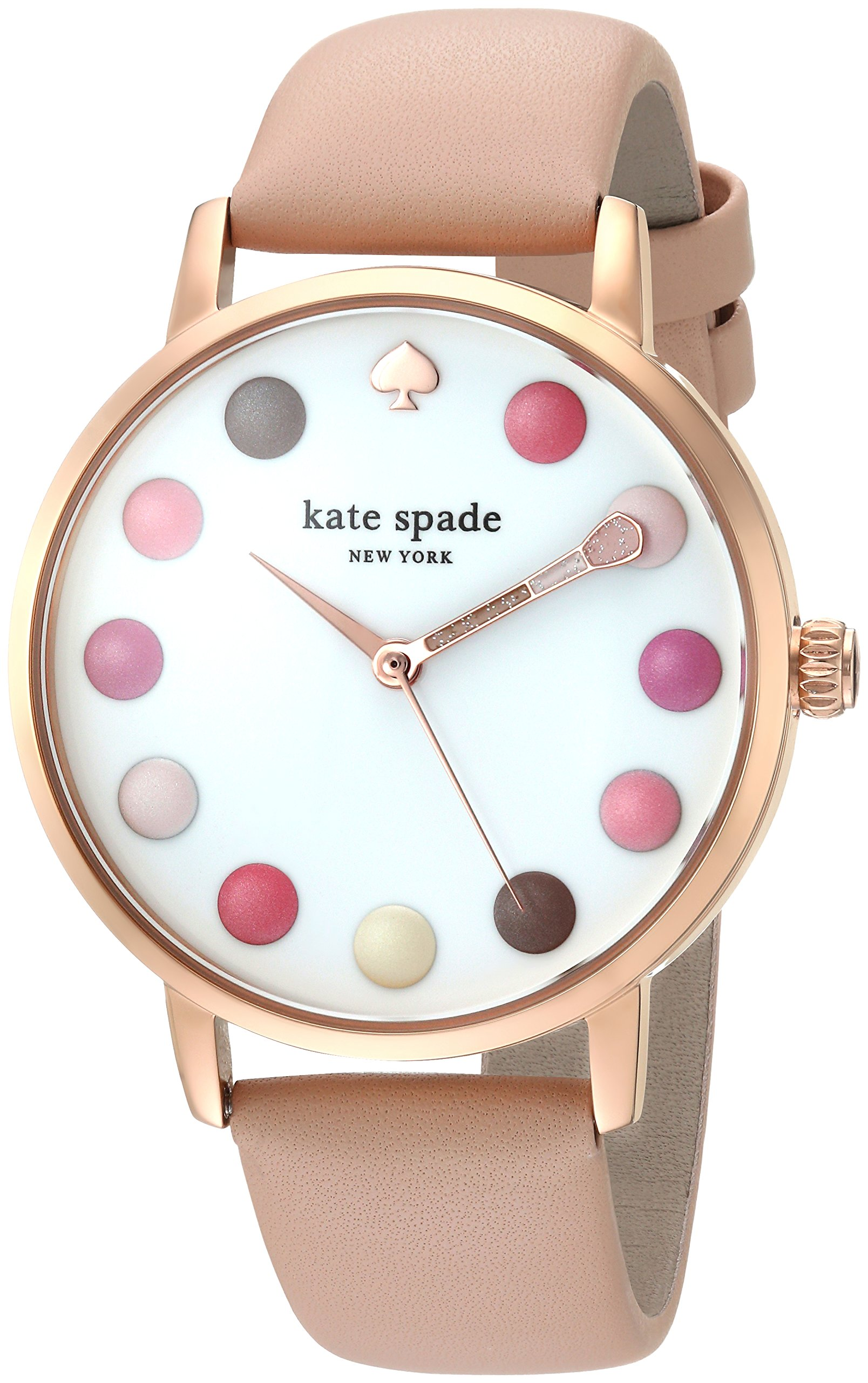 kate spade new york Women's 'Metro' Quartz Stainless Steel and Leather Casual Watch, Color:Brown (Model: KSW1253) by Kate Spade New York