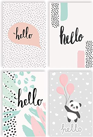 Listen 4 Large Greeting Card Pack of 10