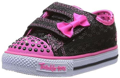 Skechers Shuffles Sweet Steps - Zapatillas de lona niña, color negro, talla 21: Amazon.es: Zapatos y complementos