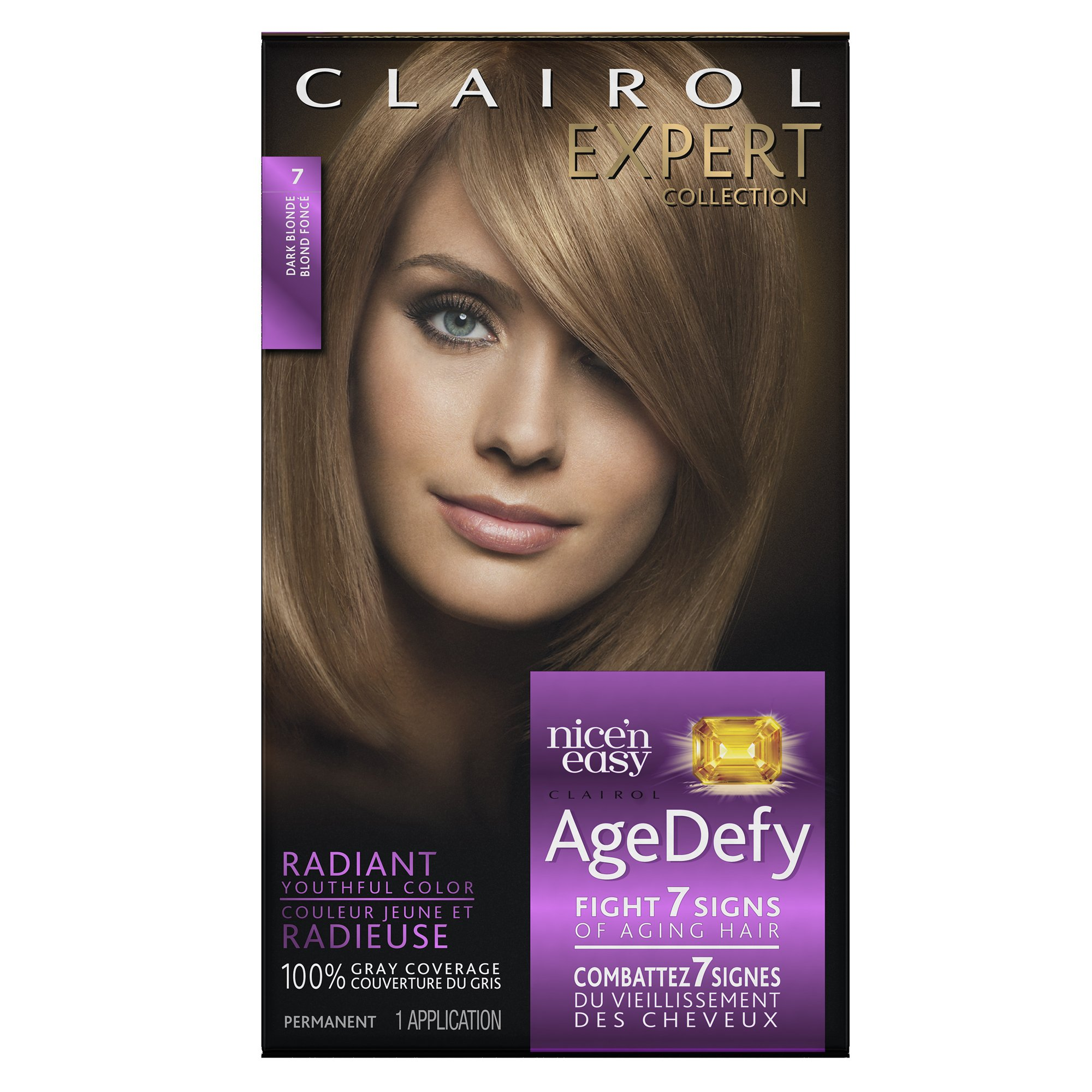 Clairol Age Defy Expert Collection, 7 Dark Blonde, Permanent Hair Color, 1 Kit (PACKAGING MAY VARY)