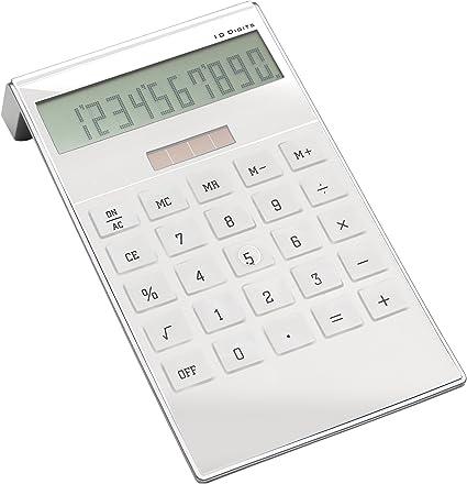 Brillante mesa calculadora Color Blanco: Amazon.es: Oficina y ...