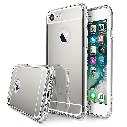 46 opinioni per LIVHÒ | Cover a specchio argento per iPhone 7 – Mirror Case – Custodia
