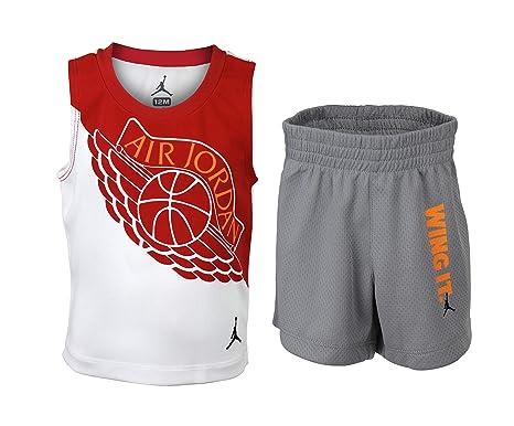 Baby Boy Jordan Clothes Interesting Amazon NIKE Baby Boy Jordan Flight Tank Shorts Set Wolf