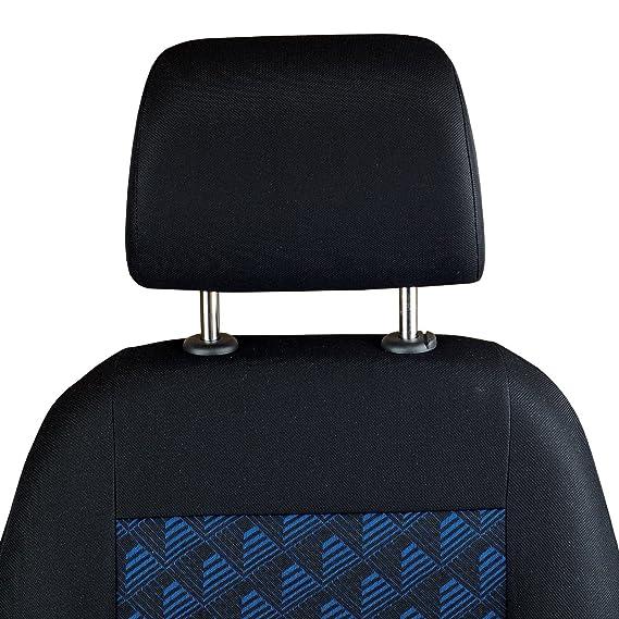 Zakschneider Fundas de Asiento Delantero de Frontera Color Azul con Efecto 3D para Conductor y copiloto