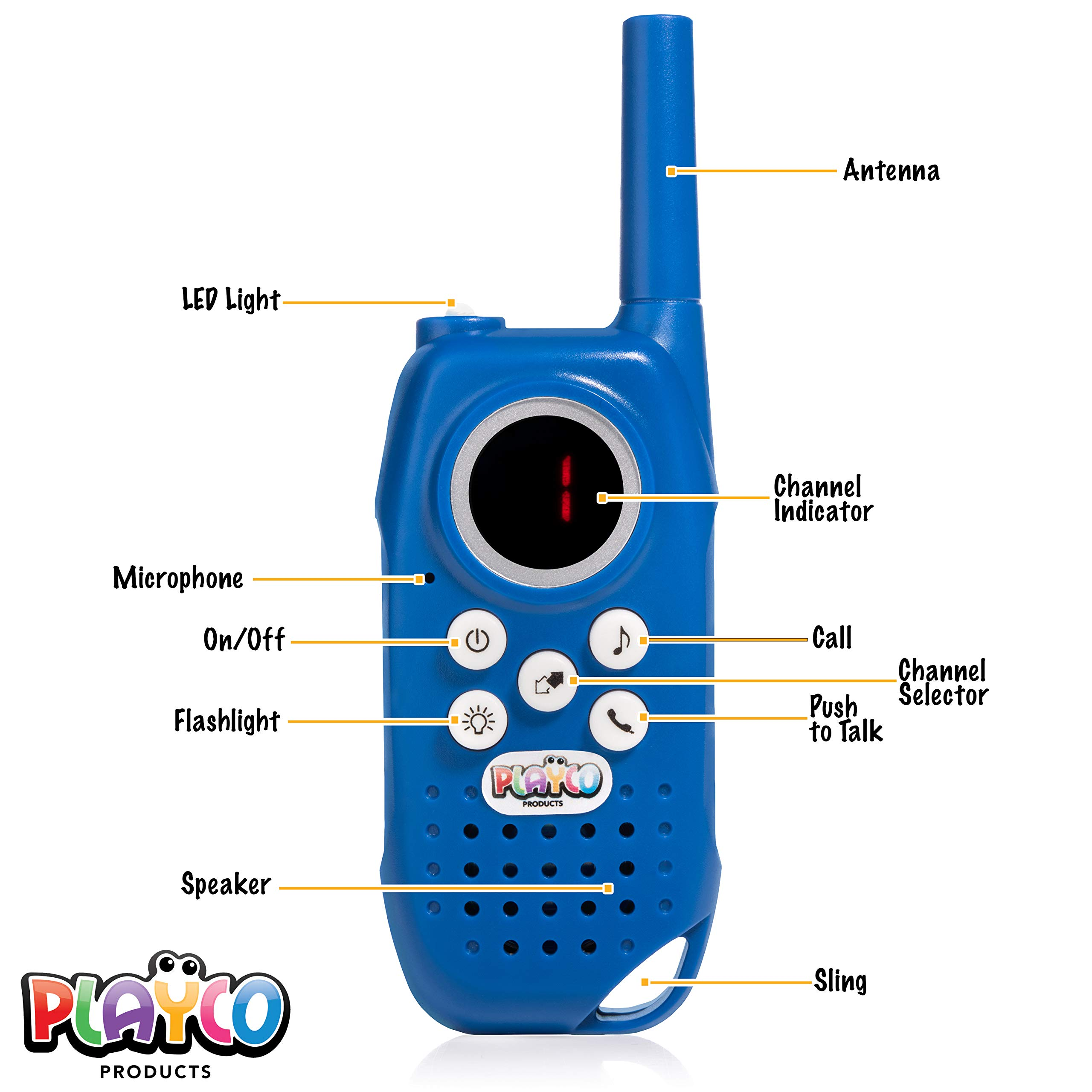 Playco Walkie Talkies and Binoculars for Kids - 2 Mile Range, Crystal Clear Sound, 8X21 Optical Lens by Playco (Image #2)