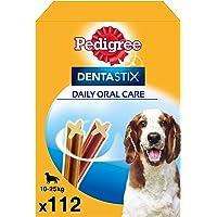 Pedigree Pack de 112 Dentastix de uso diario para la limpieza dental de perros medianos