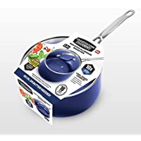 Granitestone Blue 2.5 Quart Saucepan with Ultra Nonstick & Durable Mineral Derived & Diamond Reinforced Surface, Stay…