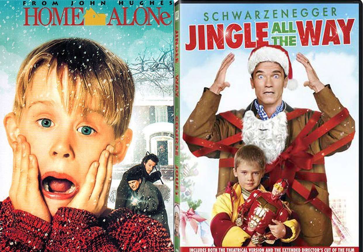 Macaulay Culkin Christmas 2-Movie Home Alone & Jingle All The Way DVD Holiday Double Feature Bundle Modern Classics Double Feature