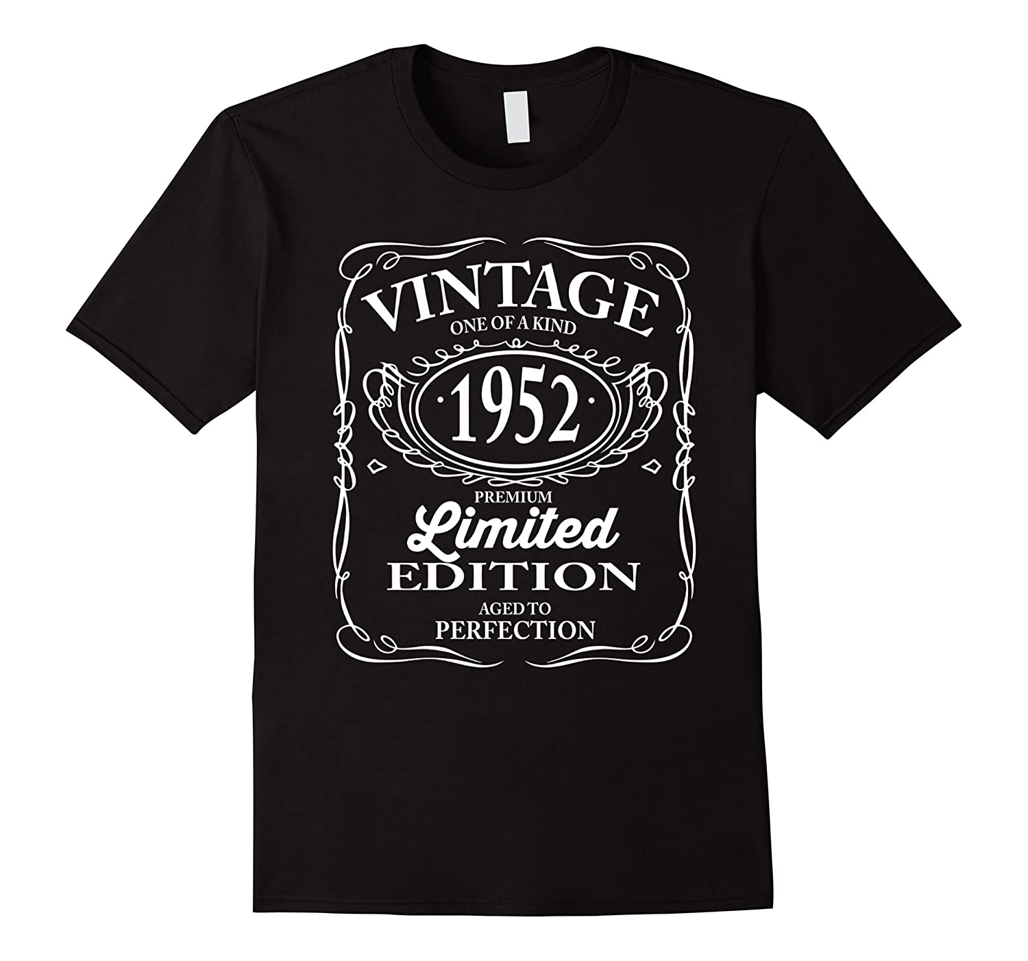 Vintage One Of A Kind 1952 Funny 65th Birthday T Shirts Men Vaci