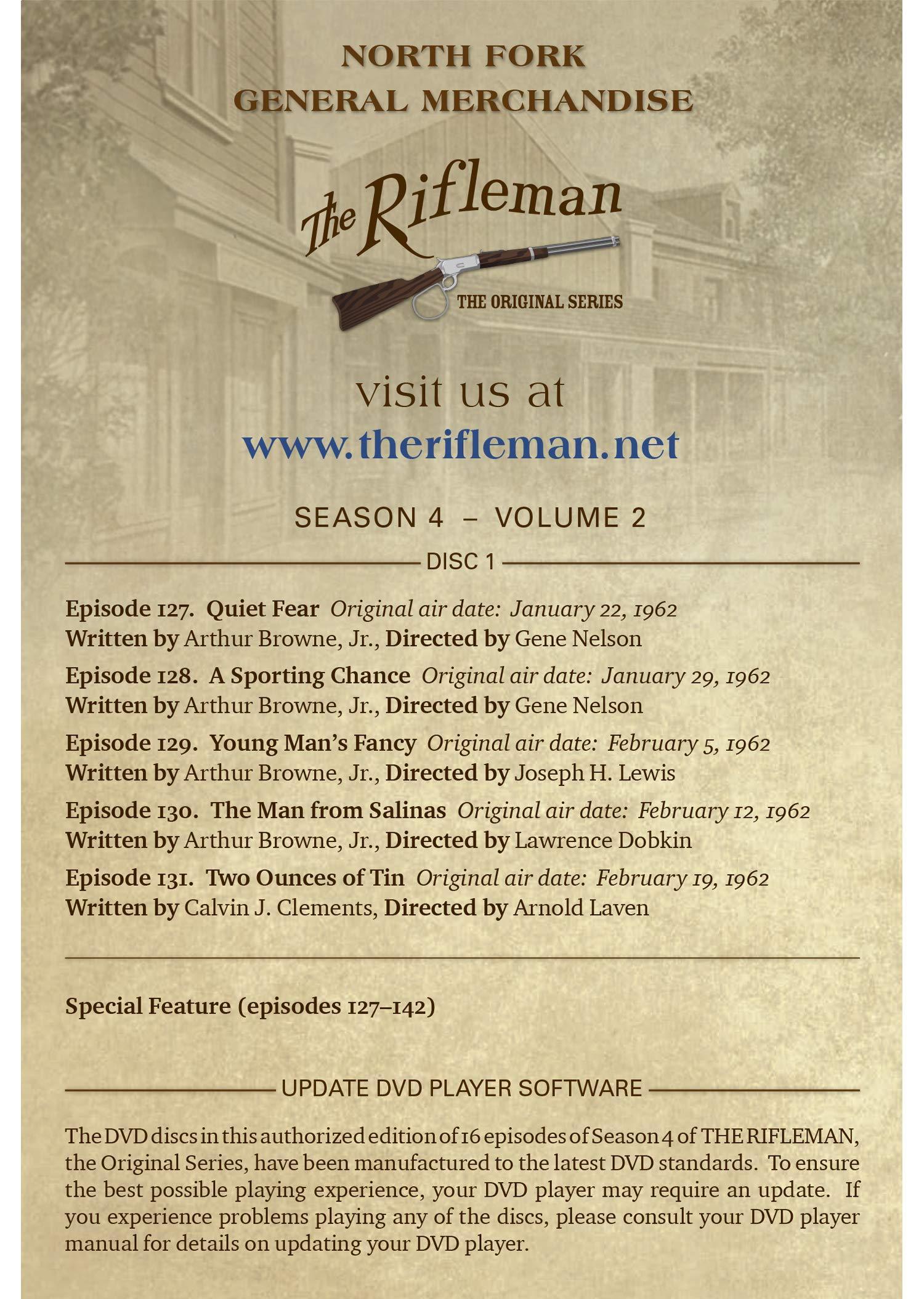 The Rifleman Value Edition Season 4 Vol 2 Episodes 127 142