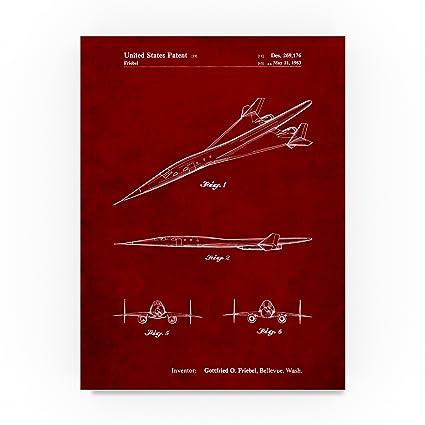 Canvas Presentation of Boeing 747-400 Art print POSTER