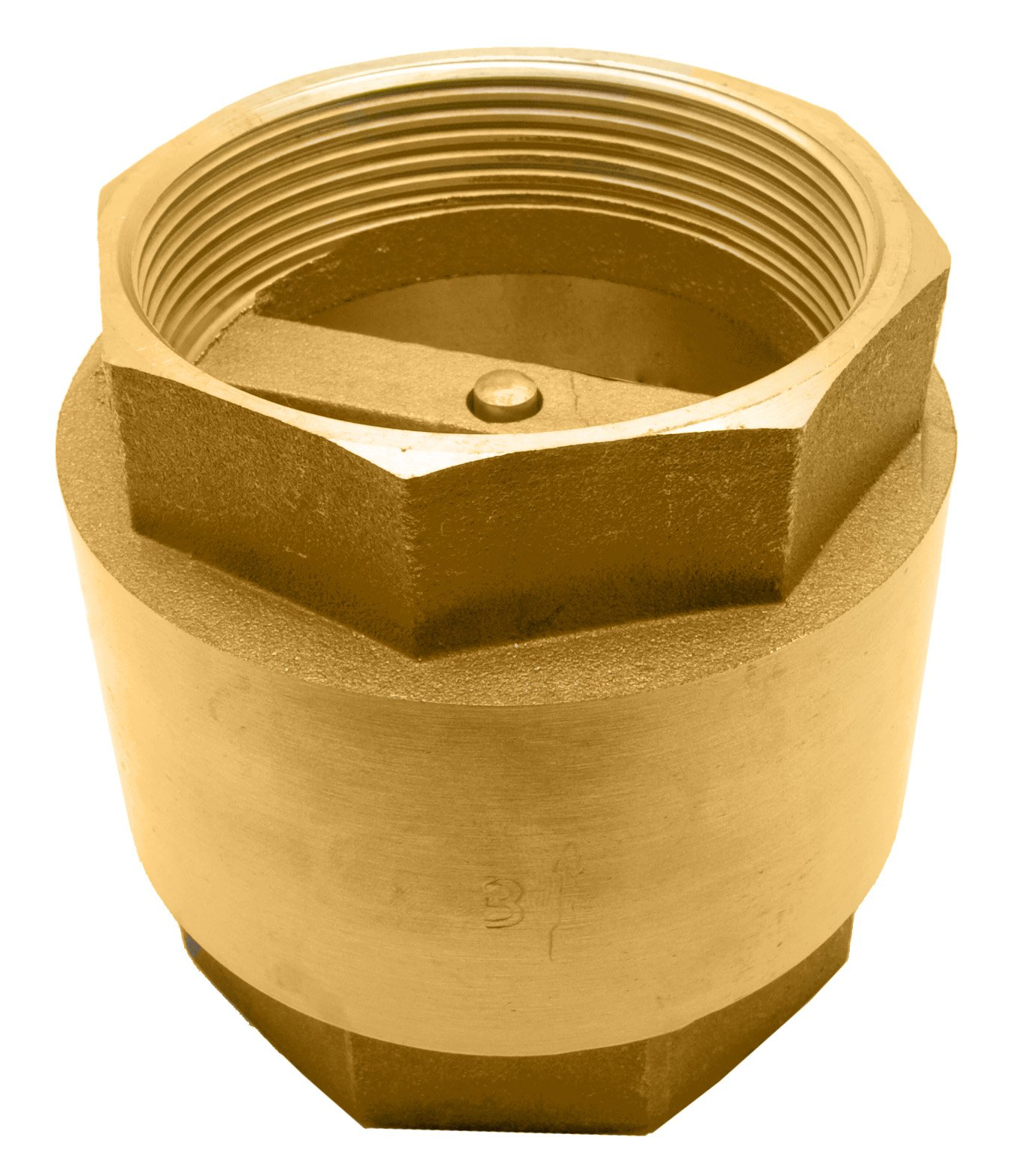 3'' Brass in-Line Spring Check Valve - 200WOG