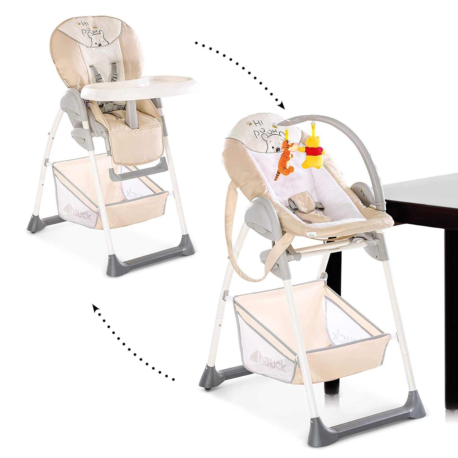 Hauck Sit'n Relax Highchair, Multi Dots Sand H-66527