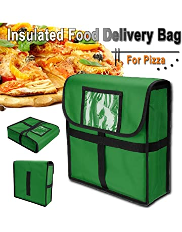Janolia Bolsa Térmica, Bolsa de Pizza Aislado, Material Exterior de Tela Oxford y Inferior
