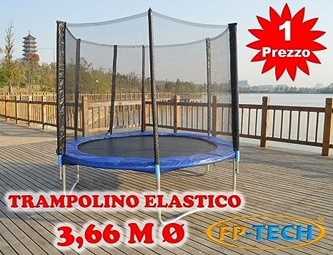 Fp Tech Trampolino Elastico 366cm 12ft Fp 12ft Amazon It Giochi